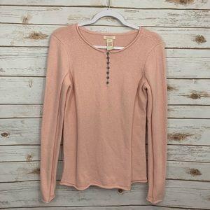 Sundance Cotton Silk Blend Long Sleeve Sweater